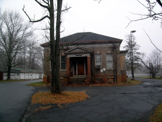 Taken during the Christmas holiday in 2008, this is one of the buildings on the state mental hospital grounds where Emily now lives.
