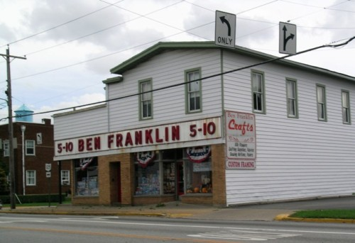 The Ben Franklin five and dime reflects a simpler, safer time in small town Ohio.